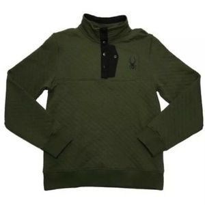 Button Quilted Pullover Sweater Sweatshirt Albion